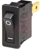 SWITCH,ROCKER, ULTRA-THIN;SPST;ON-OFF,15A,250VAC;0.187 IN. QC;ACTUATOR,BLACK -- 70065605 - Image