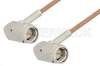 SMA Male Right Angle to SMA Male Right Angle Cable 24 Inch Length Using RG178 Coax, RoHS -- PE3876LF-24 -Image