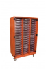 48-Tote Storage Unit; With or Without Doors