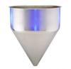 Stainless Steel Seamless Hopper Funnel, 24.2 Gal., 21.13