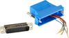 Modular Adapter Kit DB25M To RJ45F w/ Thumbscrews Blue -- FA4525M-BL -- View Larger Image