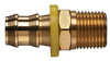 Brass Push-on Fitting - Male Pipe -- View Larger Image