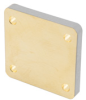 WR-75 Waveguide Short Plate with 5mm Copper and UG-Cover Square Flange -- FMW75SP5 -Image