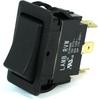 E-Switch Rocker Switch 20A 125VAC DPDT On-On Black RVW4GD1100 -- 43306 - Image