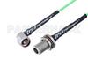 N Male Right Angle to N Female Bulkhead Low Loss Cable 100 CM Length Using PE-P160LL Coax -- PE3C5286-100CM -Image