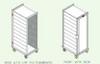 Seedburo Transport Cabinet - ALUMINUM TRANSPORT CABINET WITH CLEAR POLYCARBONATE BACK -- SGCART