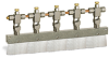 """Valve Brush, 11 1/4"""" X 3/8"""" Flat Nylon, 1/4"""" OD Tube Inlet -- B309-5X01 -Image"""