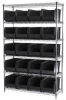 Wire Shelving,24 Black AkroBins -- AWS184830260K