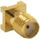 Gold SMA Female Surface-mount Connector -- CONSMA001-SMD-G -- View Larger Image