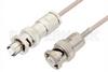 MHV Male to SHV Plug Cable 60 Inch Length Using RG316 Coax, RoHS -- PE34417LF-60 -Image