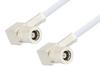 SMB Plug Right Angle to SMB Plug Right Angle Cable 60 Inch Length Using RG188 Coax -- PE3589-60 -Image