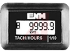 Hour Meter, Tach, Quartz, Digital LCD, Rectangle w/holes, 8+ yr Lithium Battery -- 70000826