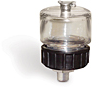 "(Formerly B1748-1), Oil Reservoir, 1 oz Polycarbonate, 1/8"" Male NPT, Pipe Mount -- B1748-0011B1W -Image"