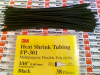 3M FP-301-1/16-BLACK-6-38 ( HEAT SHRINK THIN WALL 6X1/16IN BLACK TUBING 38/PAK ) -- View Larger Image