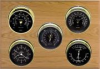 Professional, Brass cases, Black dials, Oak panel
