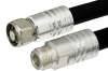 N Male to N Female Cable 72 Inch Length Using 1/2 inch Helical Coax, RoHS -- PE37969-72 -Image