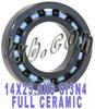 14x25.4x6 Full Ceramic Bearing Silicon Nitride -- Kit7388