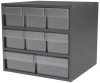 Akro-Mils Akrodrawers 60 lb Charcoal Gray Powder Coated, Textured Stackable Super Modular Cabinet - 17 in Overall Length - 18 in Width - 16 1/2 in Height - 2, 6 Drawer - Non-Lockable - AD1817CAST CLEA -- AD1817CAST CLEAR