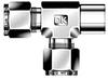Dk-Lok® Female Run Tee -- DTRF 2-2N - Image