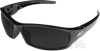 Edge Reclus Safety Glasses with Black Frame and Smoke Lens -- SR116