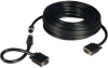 VGA Coax Easy Pull Monitor Cable, High Resolution Cable with RGB Coax (HD15 M/M), 100-ft. -- P503-100