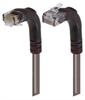 Category 5E Right Angle Patch Cable, Right Angle Up/Right Angle Down, Gray 5.0 ft -- TRD815RA4GRY-5 -Image
