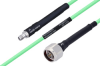 Temperature Conditioned SMA Female to N Male Low Loss Cable 48 Inch Length Using PE-P142LL Coax -- PE3M0141-48 -Image