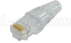 Category 6 RJ45 Crimp Plug (8X8) -Integrated Load Bar/Pair Separator -- TSP4288C6