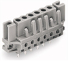 Female connector; with straight solder pins; 7-pole; with spacers; Pin spacing 5 mm / 0.197 in; Solder pin 0.6x1 mm; codable; Vertical PCB mounting; with 2 locking latches; for flush-mounting -- 232-137/047-000