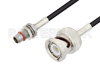 Slide-On BMA Plug Bulkhead to BNC Male Cable 24 Inch Length Using LMR-100 Coax -- PE3C4935-24 -Image