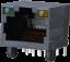 PC board Single jack RJ45 LED, Unshielded -- AJT18l8813-030
