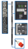 3-Phase Switched PDU, 18kW, 24 240V Outlets (12 C13, 12 C19), IEC309 30A Red (3P+N+E) 415V Input, 0U Vertical Mount -- PDU3XVSR6G30A