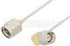 SMA Male to SMA Male Right Angle Cable 18 Inch Length Using PE-SR047AL Coax -- PE3393-18 -Image