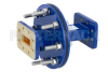 WR-112 Waveguide Bulkhead Adapter CPR-112G Flange, 7.05 GHz to 10 GHz -- PEWAD5017 -Image