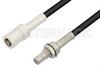 SMB Plug to SMB Jack Bulkhead Cable 48 Inch Length Using RG174 Coax, RoHS -- PE33674LF-48 -- View Larger Image