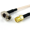 RA SMA Male to SMA Female Cable RG-316 Coax in 12 Inch -- FMC0413315-12 -Image