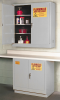 Flammable Liquid Safety Storage Manual Close Cabinet -- CAB126-GRAY