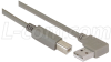 Right Angle USB Cable, Right Angle A Male/Straight B Male, 1.0m -- CA90RA-B-1M