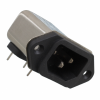Power Entry Connectors - Inlets, Outlets, Modules - Filtered -- 3-6609987-8-ND