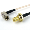 RA SMA Male to SMA Female Bulkhead Cable RG-316 Coax in 36 Inch -- FMC0412315-36 -Image