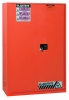 Hazardous Liquid Safety Storage Sliding Self-Close Cabinet -- CAB25545-RED