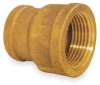 Reducing Coupling,Red Brass,1 1/4 x 1 In -- 1VGE7