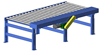 Gravity roller conveyor via Rolmaster Conveyors