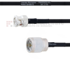 BNC Male to N Male MIL-DTL-17 Cable M17/84-RG223 Coax in 60 Inch -- FMHR0030-60 -Image