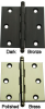 Solid Brass Hinges with Ball Tip -- 406110