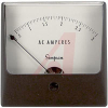 Ammeter, 0-3ACA, + 2%; 3-1/2 in.; 2%; 2.73 in.; 0.128 in.; -20 to degC -- 70209419