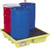 4 Drum Spill Containment Pallet w/ Drain -- PAL453