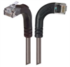Category 6 LSZH Right Angle Patch Cable, Right Angle Right/Right Angle Up, Gray, 10.0 ft -- TRD695ZRA12GRY-10 -Image
