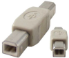 B Male to B Male USB Gender Changer -- 85-637 - Image