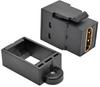 HDMI All-in-One Keystone/Panel Mount Coupler (F/F), Black -- P164-000-KP-BK